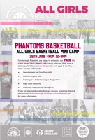FREE All Girls Basketball Camp 8-16yr