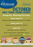 Tennis Camps yr10-yr12