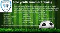 Free Youth Summer Football Training Years 4, 7 and 8 - Ash