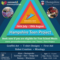 Free Hampshire Teen Project - Basingstoke for 11-15yrs