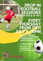 Youth Summer Football Training 12-14yrs (£1 a session) - Farnborough