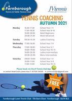 Tennis Coaching Adult Advanced- Farnborough Tennis Club