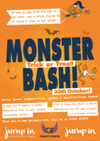 Monster Bash - GRAVITY FORCE Trampoline sessions for under 8yrs - Camberley