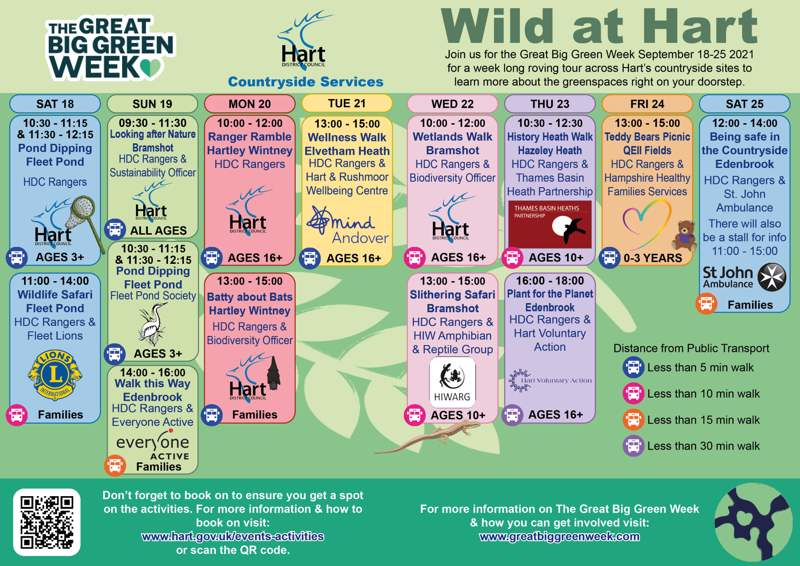 a timetable of events happening this september