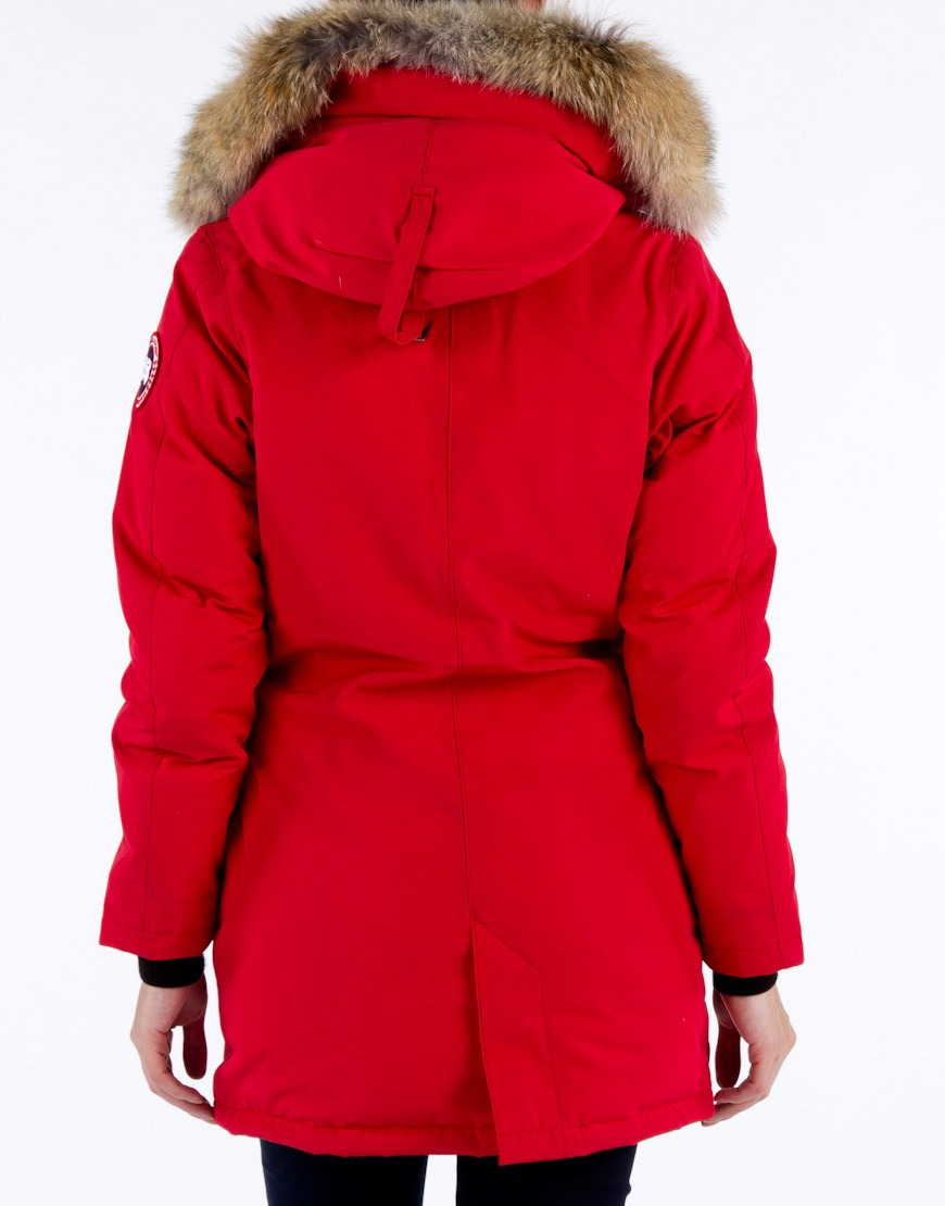 canada goose dames jas ladies victoria parka red. Black Bedroom Furniture Sets. Home Design Ideas