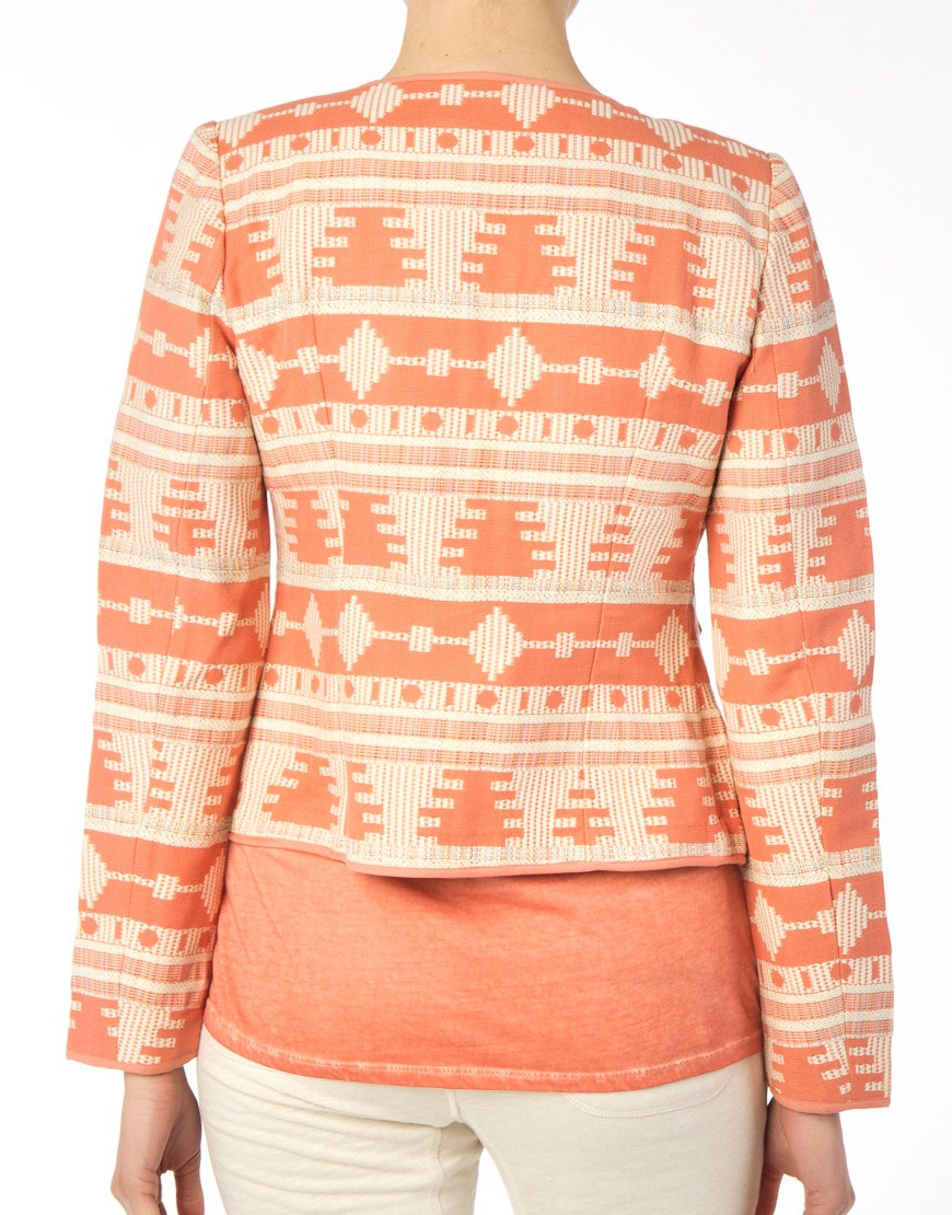 Yaya dames jasje aztec cotton tawny orange dessin - Orange dessin ...