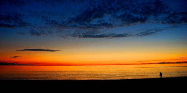 Sunset on the Isle of Man