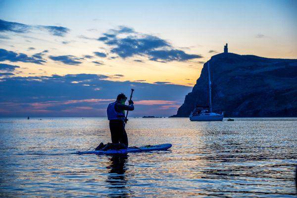 Paddleboarding in Port Erin