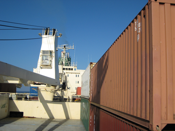 travelling on a cargo ship