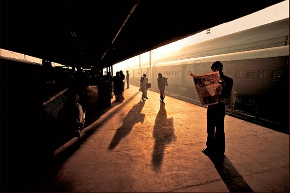 Train Station Platform, Old Delhi, India 1983