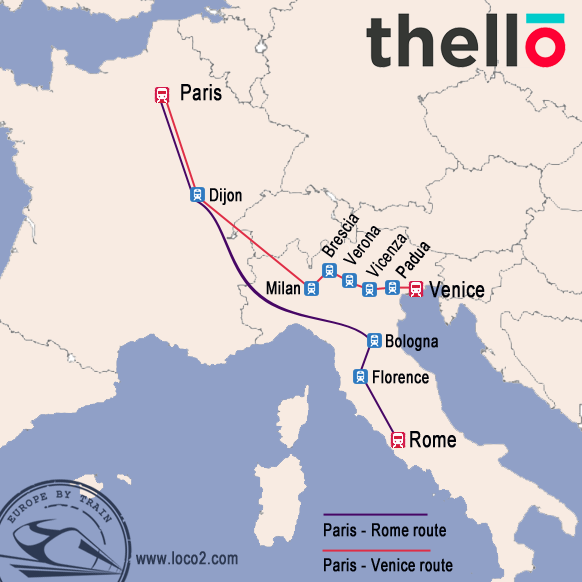 how to get from paris to rome by train