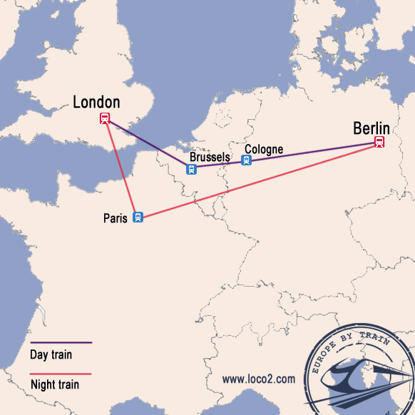 London to Berlin train route