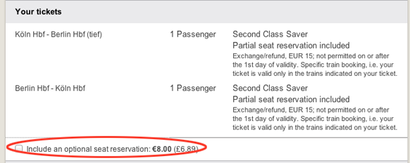 remove seat reservation