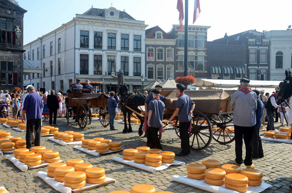 gouda cheese market - day trips from amsterdam by train
