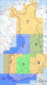 Loisto Mobiilin maastokarttapakettien aluejako 2/2015