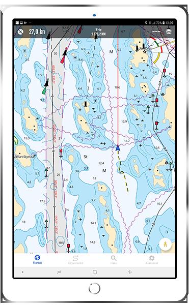 Navigointiohjelmistot mobiilissa