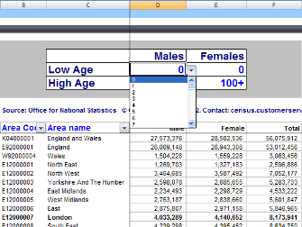 2011 Census custom age tool
