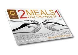 gourmet dining card