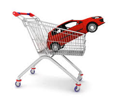 buying a car, car in trolley