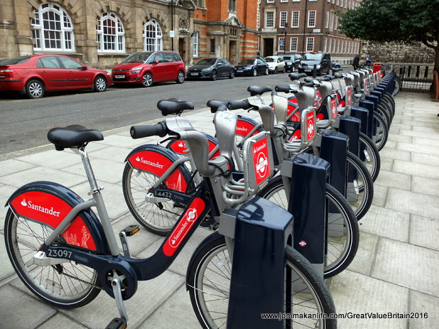 santander bikes, cycling in London
