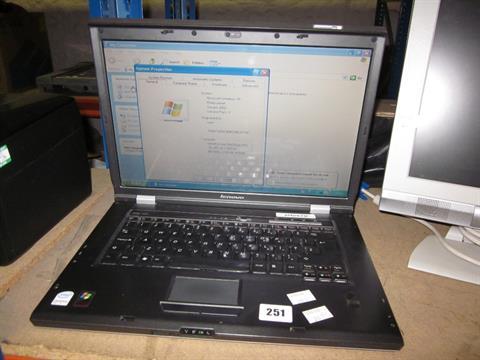 A Lenovo 3000 N200 laptop type 0769-BMG s/n L3-E0915 07/09