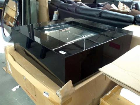 KELLY HOPPEN COFFEE TABLE RECESS MIRROR LAQUERED BLACK RRP 1525