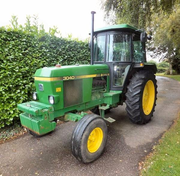 1983 john deere 3040 diesel tractor reg no a56 ffh fitted with sg2