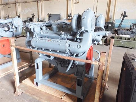 Detroit 8V92 V8 8 cylinder twin turbo diesel marine engine on