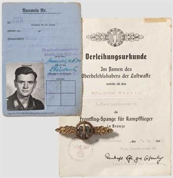 Gruppe Arthur Herold - Kampfgeschwader 54 Verleihungsurkunde für die ...
