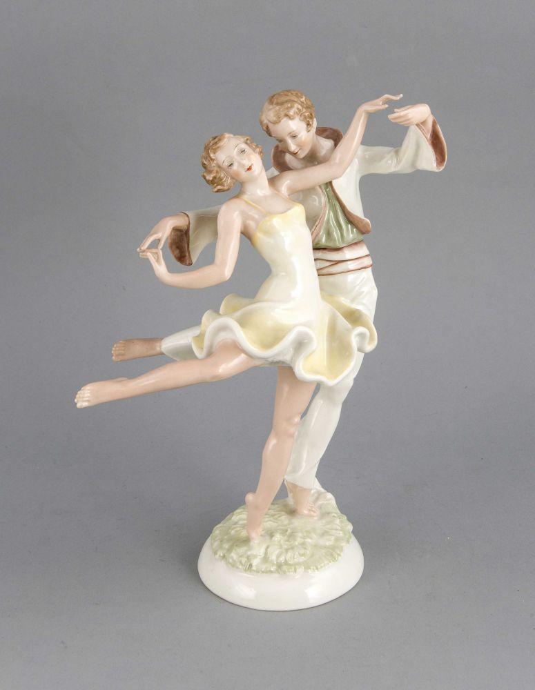 Tanzpaar, Lorenz Hutschenreuther, Marke der Abteilung für Kunst ...