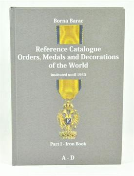 phaleristic barac borna reference catalogue orders medals and
