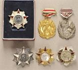 Albania  Lot of 6 decorations.  Various, mostly on screw back.  Condition: II    Starting price: 250