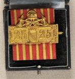 Baden  Fire Brigade decoration for 25 years, in box.  Gilded, with ribbon, on pin; in black box, tag