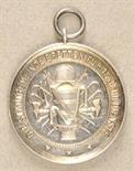 Baden  Medal for 15 years of service in the local fire brigade Bretten.  Silver, 990 hallmarked,