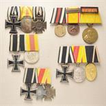 Baden  Lot of 5 medalbars.  Various combinations.  Condition: II    Starting price: 350    Baden