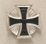 Prussia  Iron Cross, 1914, 1. class.  Blackened iron core, silvered frame, polished edges, on