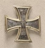 Prussia  Iron Cross, 1914, 1. class.  Iron core, blackened, well worn, silver frame, reverse