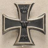 Prussia  Iron Cross, 1914, 1. class.  Blackened iron core, silver frame, hallmarked Meybauer and