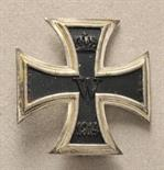 Prussia  Iron Cross, 1914, 1. class.  Blackened iron core, silvered frame, on pin, vaulted.  Piece