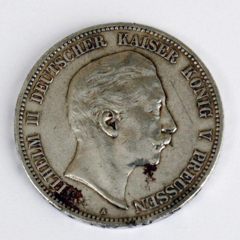Dr Preussen 5 Mark 1907 Wilhelm Ii Deutscher Kaiser K246nig V