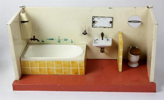 Kibri Badezimmer 50er Jahre Blech Farbig Lackiert, Rechteckige Form Eines  Offen Ausgeführten Bad