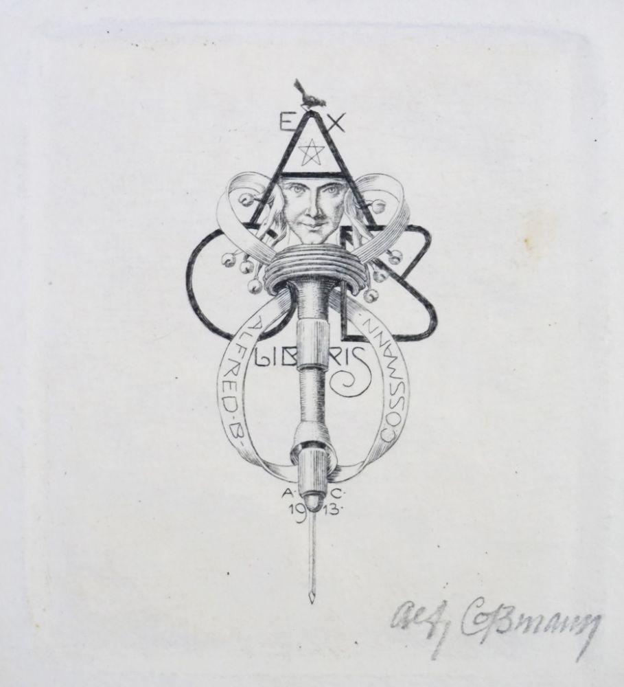 Ex Libris. Radierung von Alfred Cossmann (1870 Graz - 1951 Wien ...