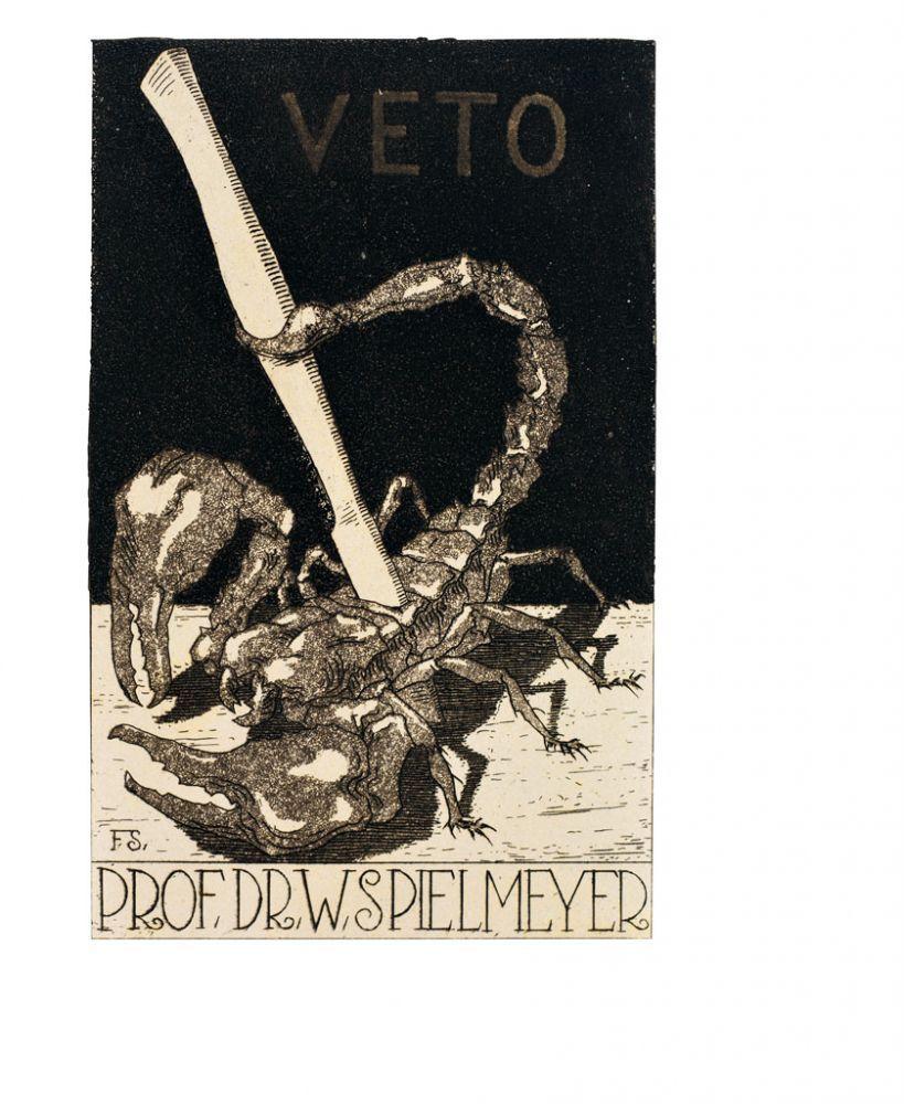 Ex Libris. Konvolut 10 Bll. Rs. sign. von Graf Buonaccorsi, Karl ...