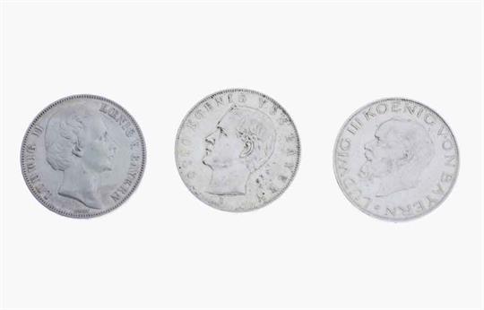 Bayern 3 Münzen Siegestaler 1871 Ludwig Ii 3 Mark 1914 D
