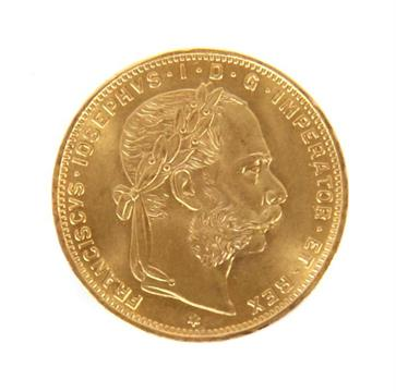Goldm252nze 8 Florin Franciscus Josephus I D G Imperator Et Rex