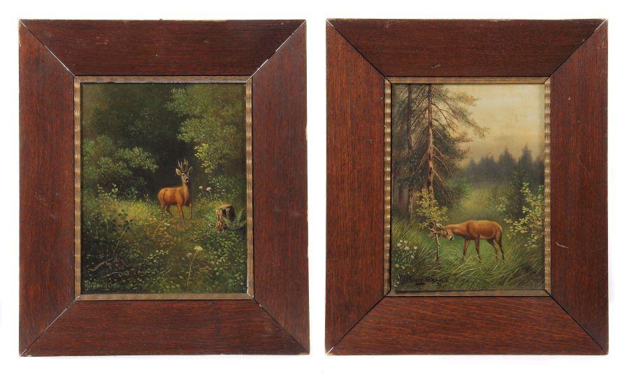 Hoffmann, Georg auch Hoffmann-Salon, um 1880 - ?, Landschaftsmaler in und um Stuttgart. Paar
