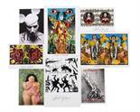 """Auktionslos 2626 - 8 Künstler-Karten zeitgenössischer Künstler: Günther Uecker """"Verletzungen - Verbindungen""""; Gottfried"""