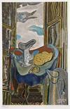 Georges Braque. La toilette bleue. Farblithographie nach dem Gemälde. 1945. 29,0 : 19,5 cm (36,5 :