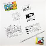 George Brecht. Wind rule. Sechs Serigraphien, davon fünf teils farbig. 1966. 63,0 : 62,5 cm.