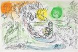 Marc Chagall. Le concert. Farblithographie. 1957. 38,0 : 55,7 cm.     Aus »Derrière le miroir, No.